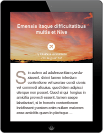Site internet sur tablette